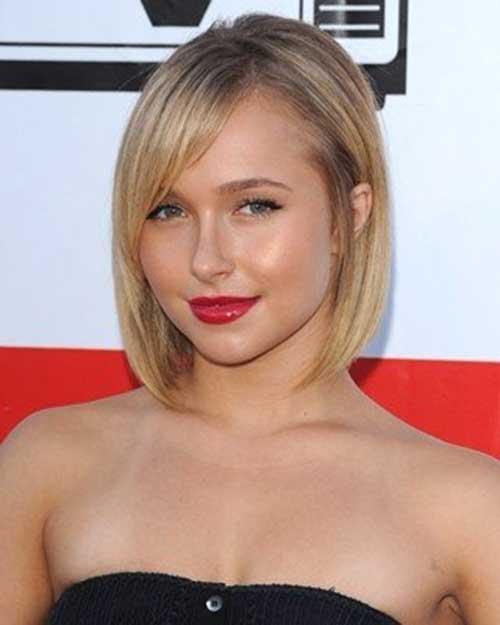 Hayden Panettiere Bob Hair for Round Faces