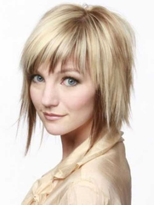 Layered Bob and Bangs Haircuts for Thin Hair Ideas