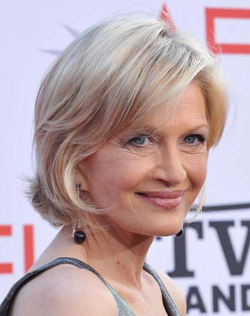 Layered Short Haircuts for Women Over 70
