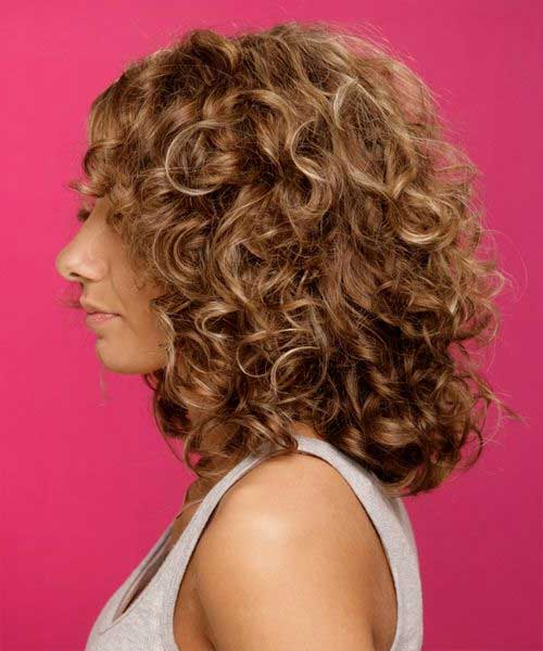 Medium Short Curly Hair Side View