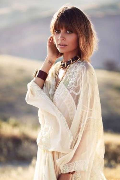 Nicole Richie Trendy Bob Hair