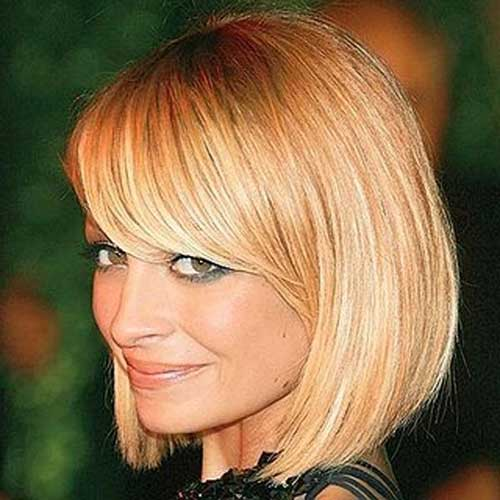 Nicole Richie Bob Hairstyle with Layered Bangs - 15 Nicole Richie Bob Haircuts Short Hairstyles 2016 - 2017