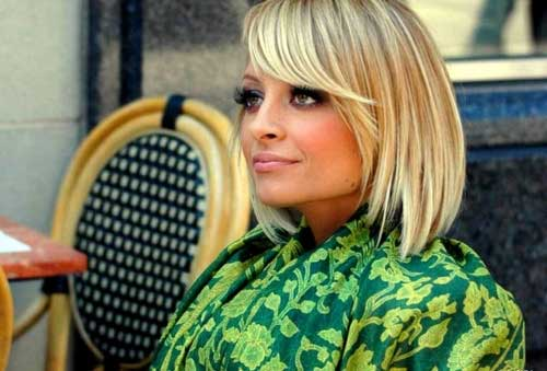 Nicole Richie Layered Bob Cut