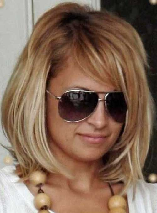 Nicole Richie Shoulder Bob with Side Bangs - 15 Nicole Richie Bob Haircuts Short Hairstyles 2016 - 2017