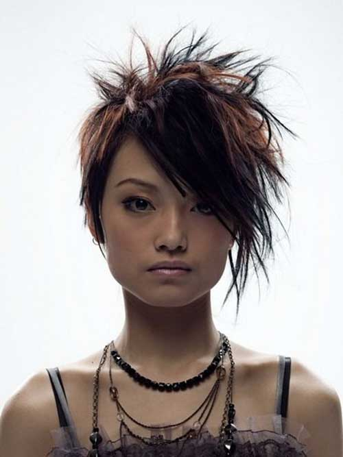 Punk Messy Short Haircuts for Girls