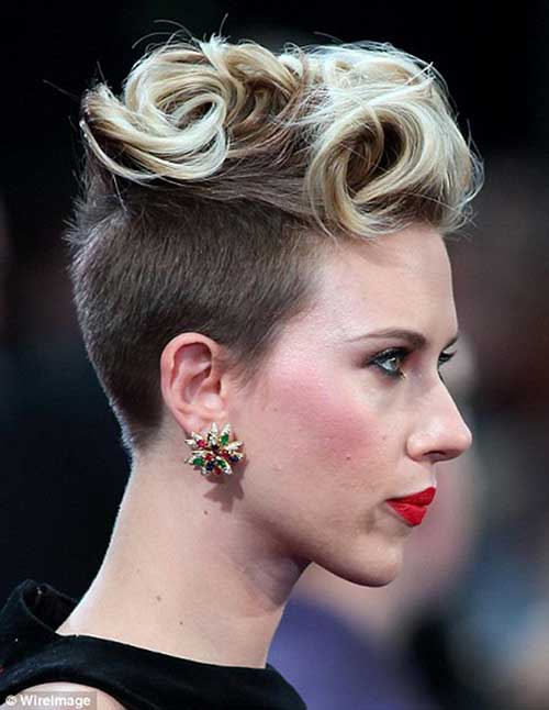 Punk Short Curly Hair Ideas
