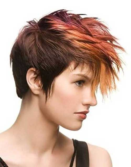 Punk Short Hair Styles Color