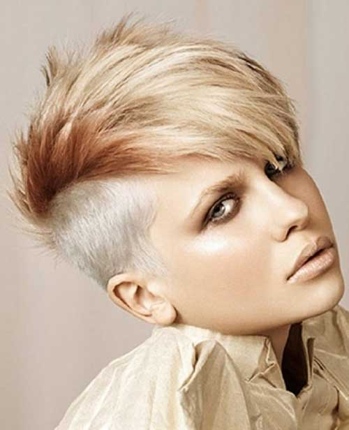 Punk Short Two Colored Hair for Girls