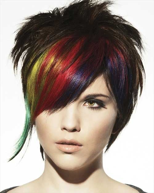 Colorful Punky Short Haircuts