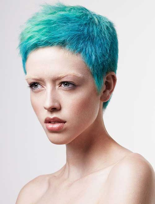 Punky Short Pixie Blue Hairstyles