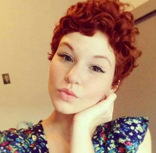 Red Curly Pixie Styles