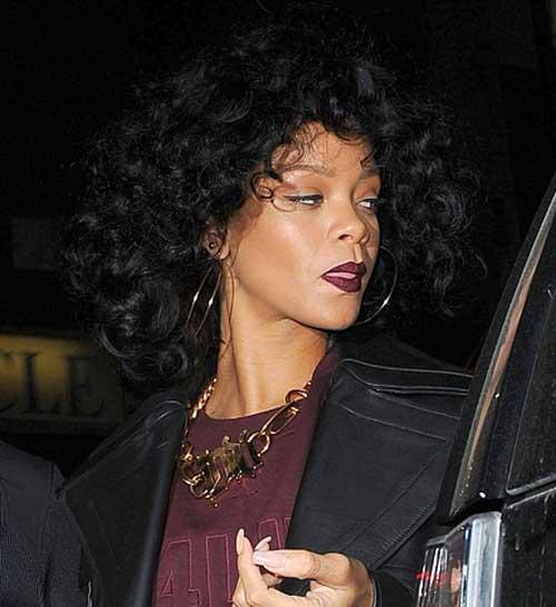 Rihanna Short Curly Hairstyles 15 Rihanna Short Curly...