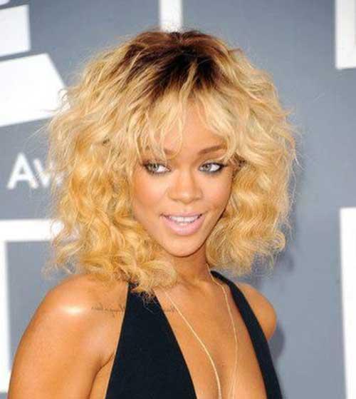 Enjoyable 15 Rihanna Short Curly Hair Short Hairstyles 2016 2017 Most Short Hairstyles For Black Women Fulllsitofus