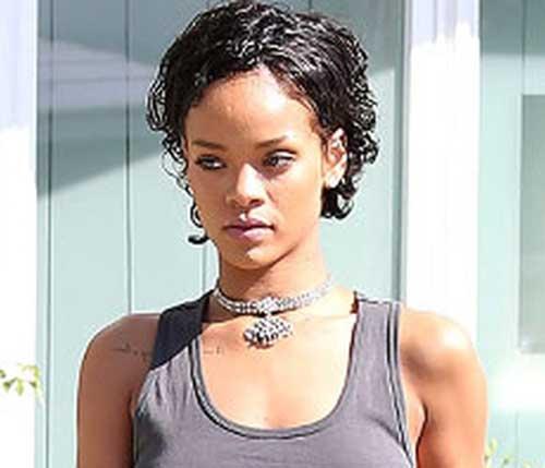 Rihanna Curly Short Hair