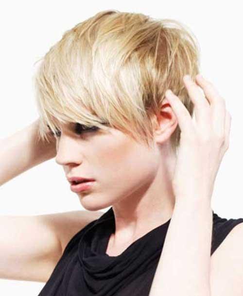 Shaggy Blonde Pixie Haircut