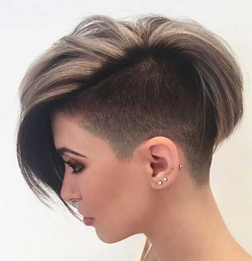 Shaved Bob Hairstyles for Short Hair
