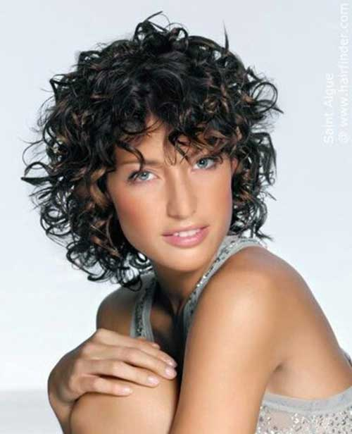 Short Bob Haircuts for Frizzy Curly Dark Hair