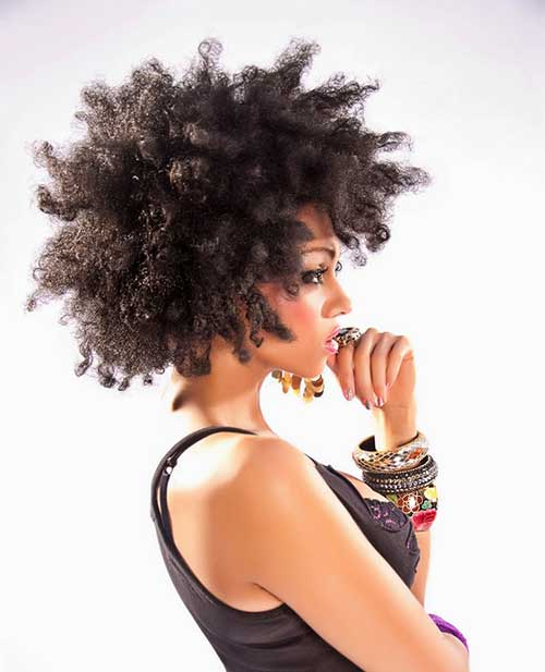 Short Curly Weave Afro