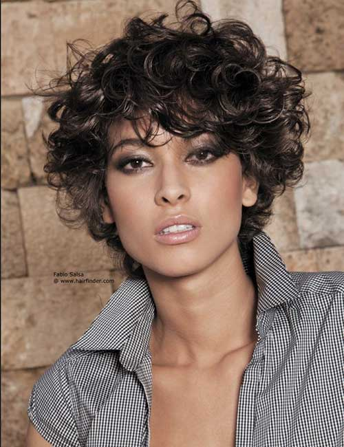 Short Frizzy Curly Casual Haircuts