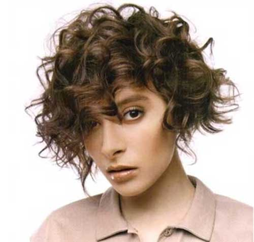Short Frizzy Curly Hair Idea Women