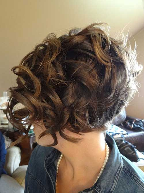 Short Frizzy Curly Hair Back View