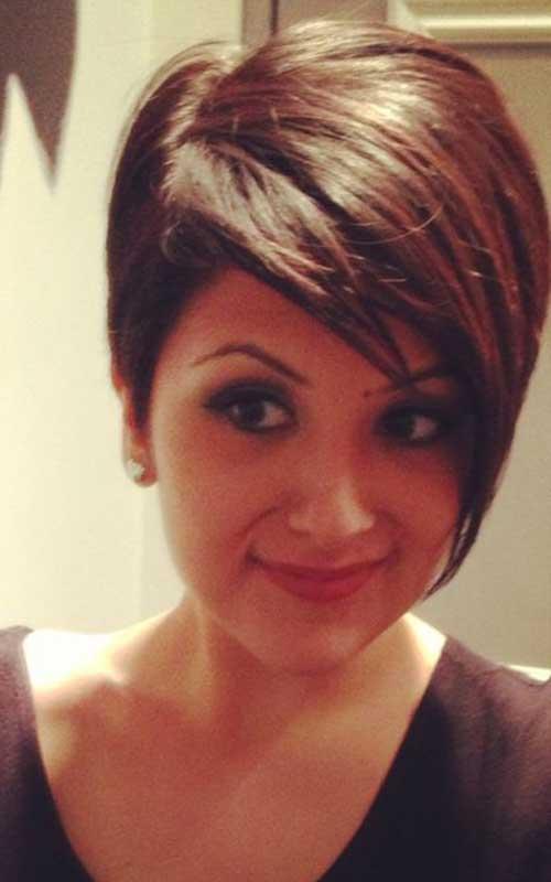 Pixie Short Dark Brown Haircut