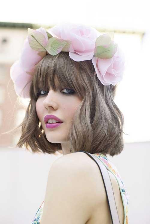 Short Light Brown Hair Color Idea for Girls