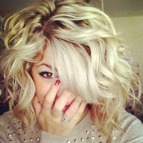 Short Medium Blonde Curly Hairstyles