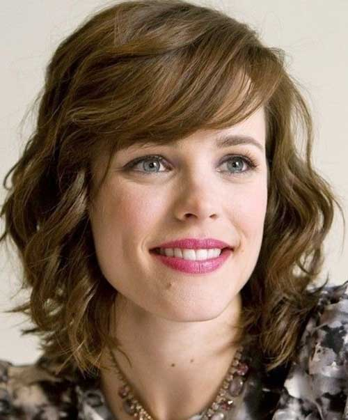 Short Medium Curly Hair with Bangs Ideas