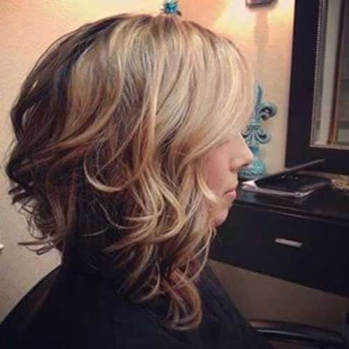 Short Medium Curly Hairstyles Back View