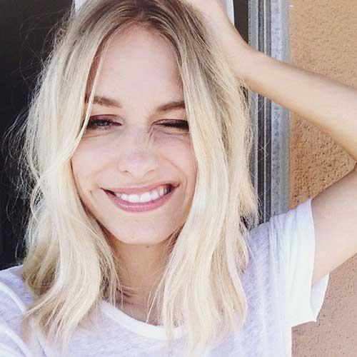 Astounding Medium Length Blonde Hairstyles 2016 Best Image Hair 2017 Hairstyle Inspiration Daily Dogsangcom