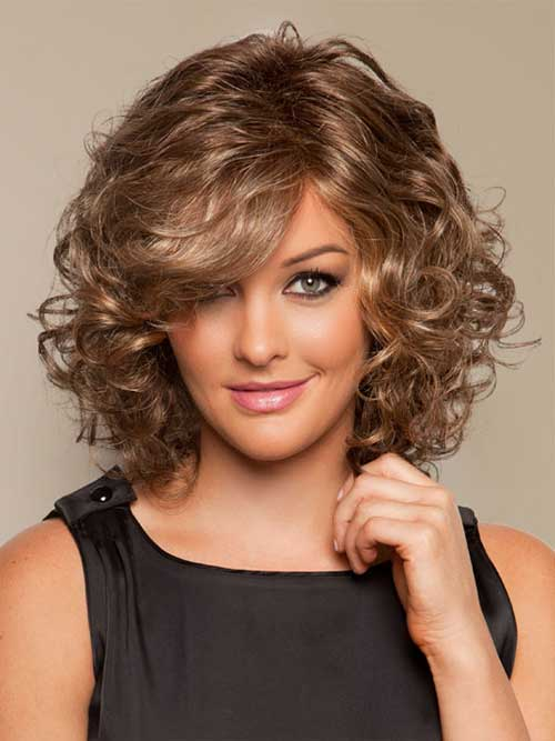 Short Shoulder Length Curly Bob Haircuts