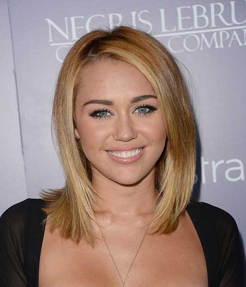 Short Shoulder Length Straight Thin Bob Hairstyles