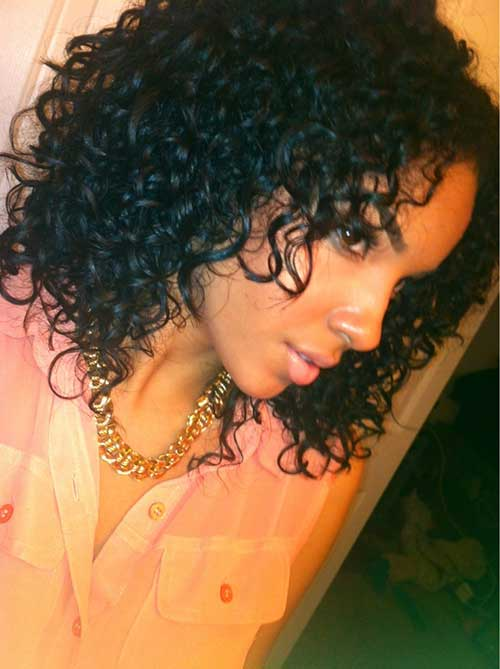 Short Weave Curly Bob Hairstyles for Girls