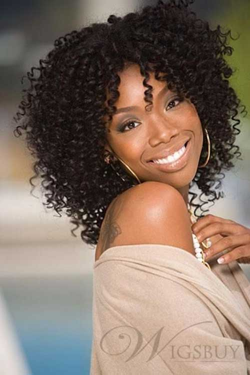 Short Weave Curly Dark Hairstyles
