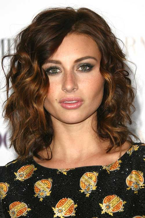Medium Length Curly Layered Hair