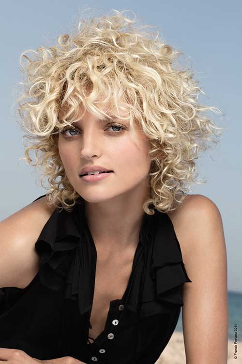 Very Short Frizzy Blonde Curly Hair Styles