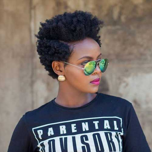 Hairstyles for Short Natural Hair-15