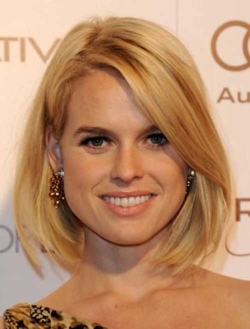 Short Hair Ideas for Round Face-15