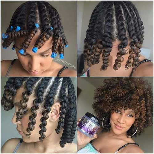 Short Curly Hairstyles for Black Women-9