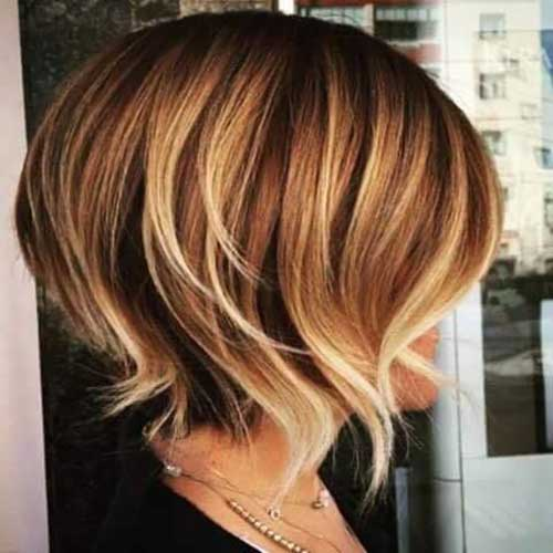 Stylish Short Hairstyle Ideas With Highlights