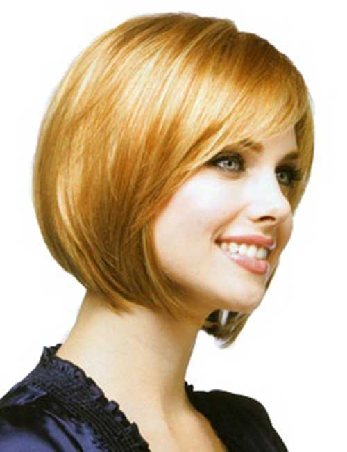 Angled Bob Styles with Side Swept Bangs