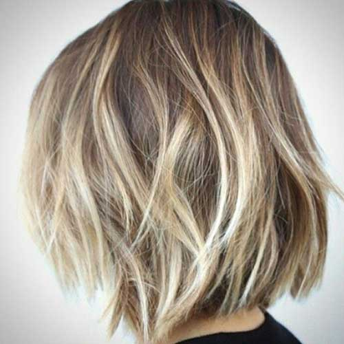 Ash Blonde Balayage for Bob