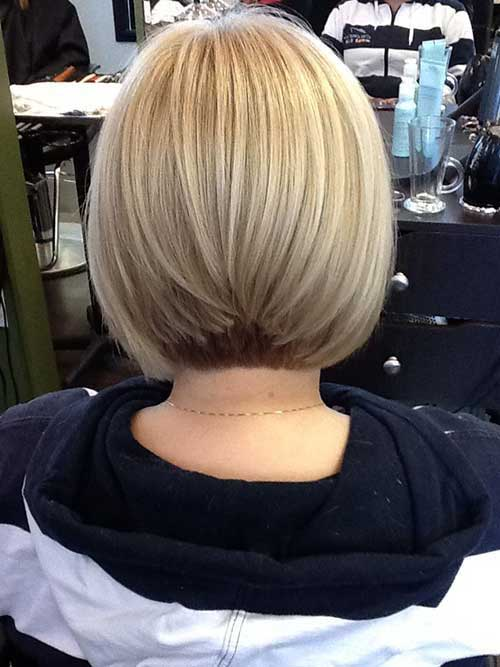 Ash Blonde Graduated Bob Hair