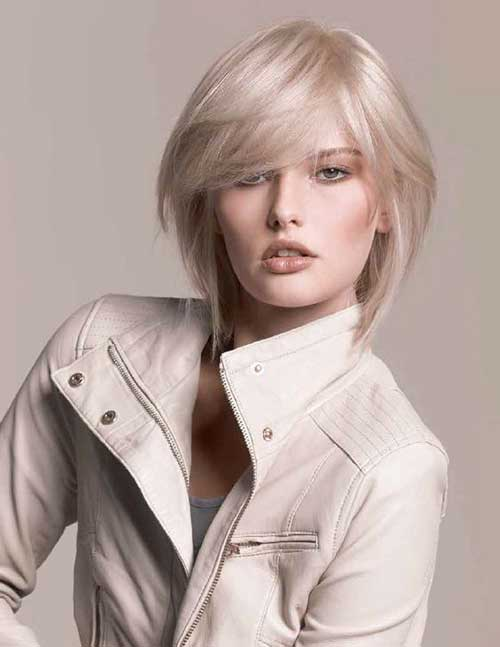 Ash Blonde Layered Bob Hair