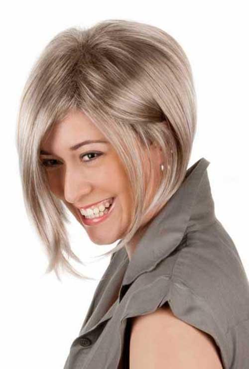 Ash Blonde Short Bob Hair