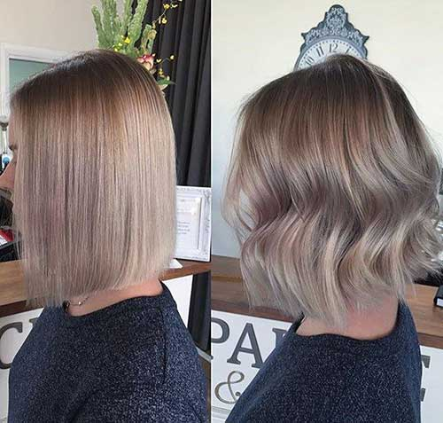 Ash Brown Bob Balayage Ideas
