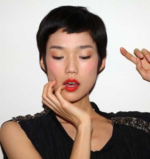 Asian pixie cut