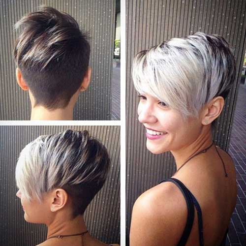 Asymmetrical Short Pixie Haircuts