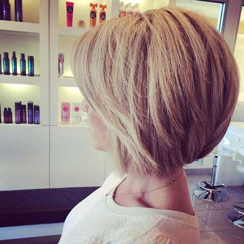 Back View for Blonde Bob Haircuts